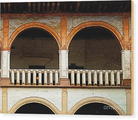 Mezzanine 3 Wood Print by Mexicolors Art Photography