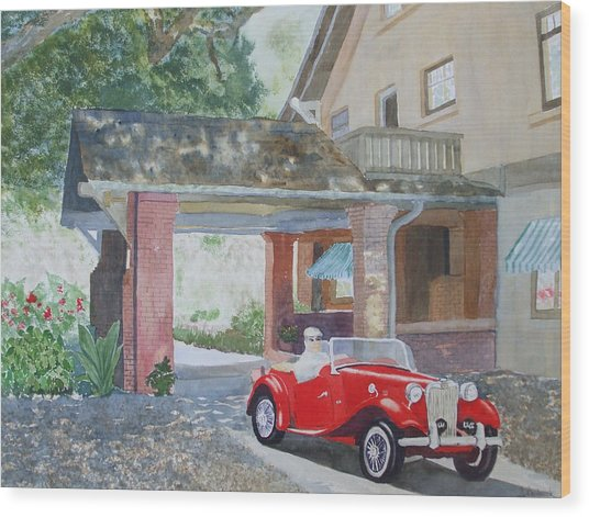 Mg At Marston House Wood Print by Ally Benbrook