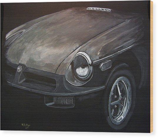 Mgb Rubber Bumper Front Wood Print