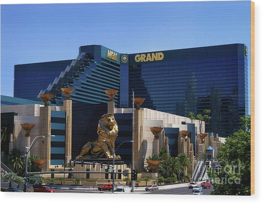Mgm Grand Hotel Casino Wood Print