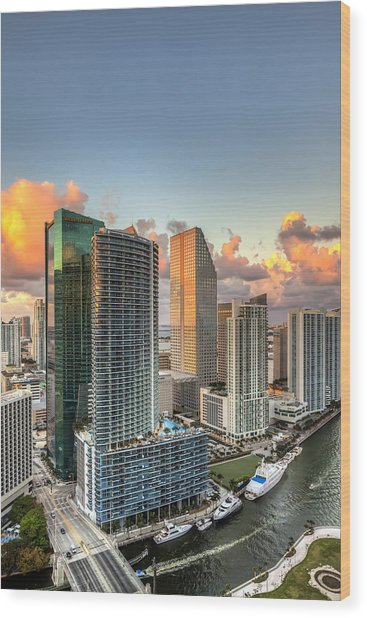 Miami Bayside Wood Print