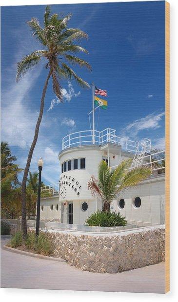 Miami Beach Patrol Hq Wood Print