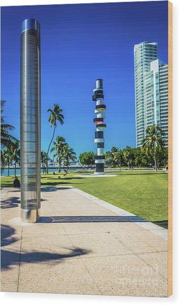 Miami Beach Series 4497 Wood Print