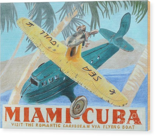 Miami-cuba Wood Print