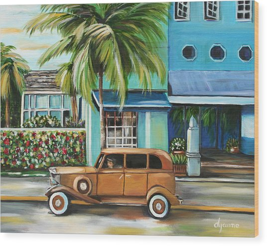 Miami Nice Wood Print by Dyanne Parker