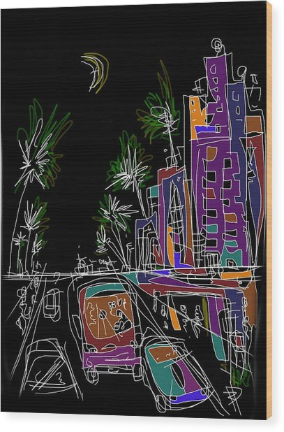 Miami Wood Print by Russell Pierce