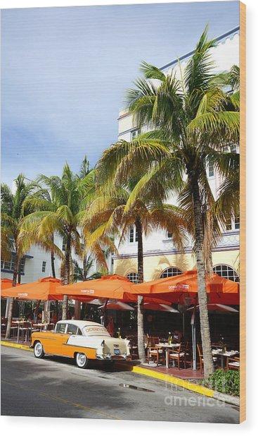 Miami South Beach Ocean Drive 8 Wood Print