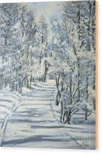 Micas Mile- Sundance Nordic Center Wood Print