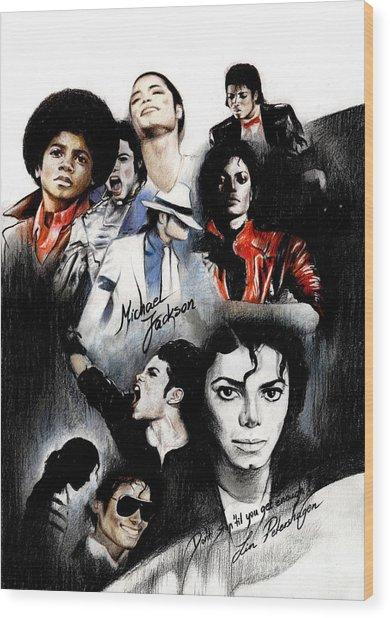Michael Jackson - King Of Pop Wood Print