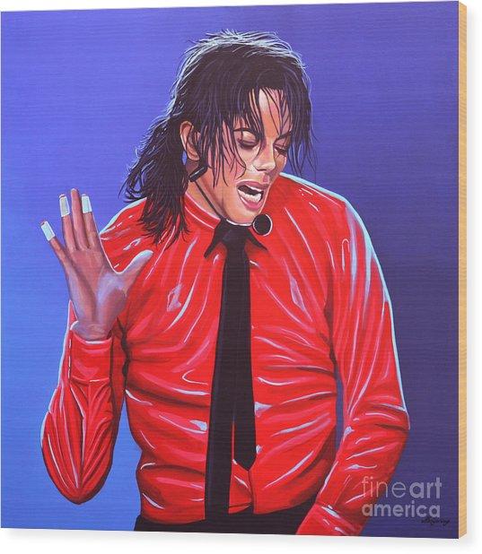 Michael Jackson 2 Wood Print