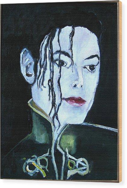 Michael Jackson 2 Wood Print by Udi Peled