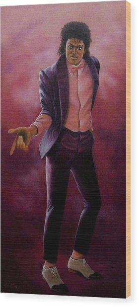 Michael Jackson-billy Jean Wood Print