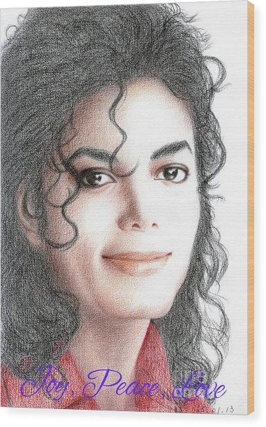 Michael Jackson Christmas Card 2016 - 001 Wood Print