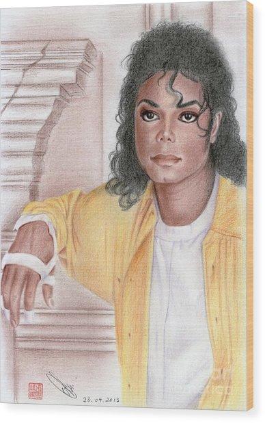 Michael Jackson - Come Together Wood Print
