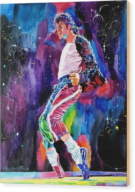 Michael Jackson Dance Wood Print
