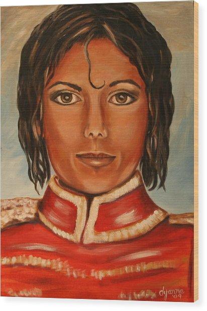 Michael Jackson Wood Print by Dyanne Parker