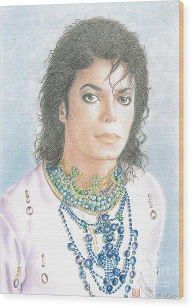 Michael Jackson - Our Beautiful Prince Wood Print