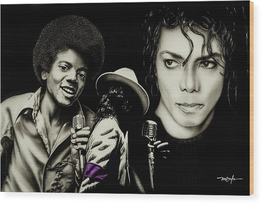 Michael Jackson - The Man In The Mirror Wood Print