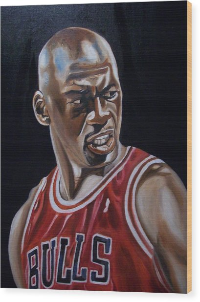 Michael Jordan Wood Print by Mikayla Ziegler