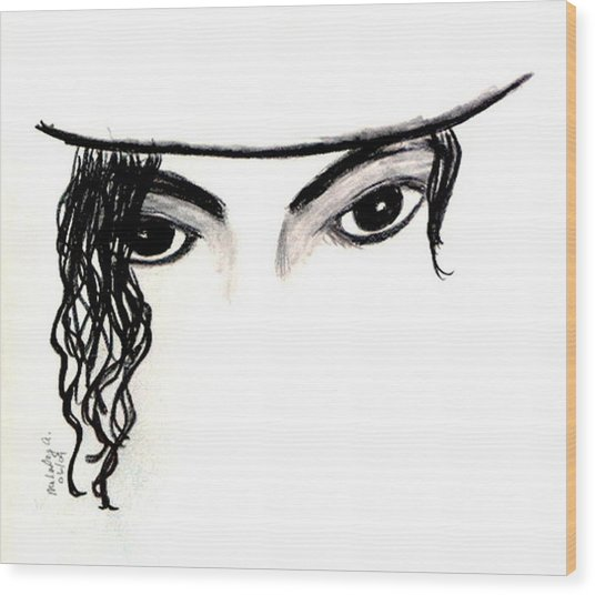 Michael's Eyes Wood Print by Melody Anderson