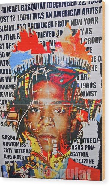 Michel Basquiat Wood Print