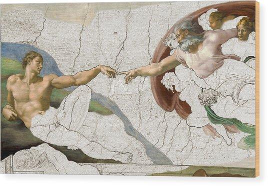 Michelangelo Creation Digital Wood Print