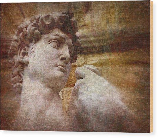 Michelangelo's David Wood Print by Jen White