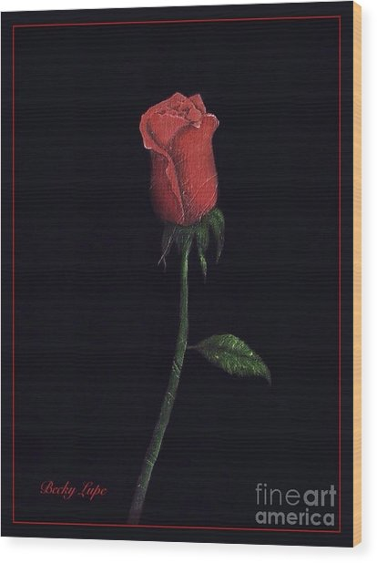 The Perfect Rose 2 Wood Print