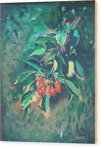 Michigan Cherries Wood Print