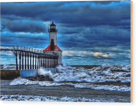 Michigan City Lighthouse Wood Print