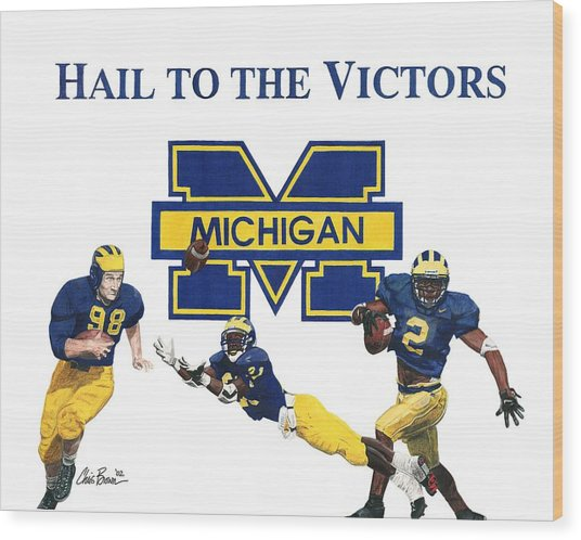 Michigan Heismans Wood Print
