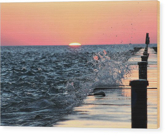 Michigan Summer Sunset Wood Print