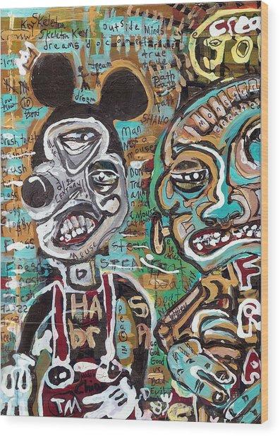 Mick And Frank Wood Print