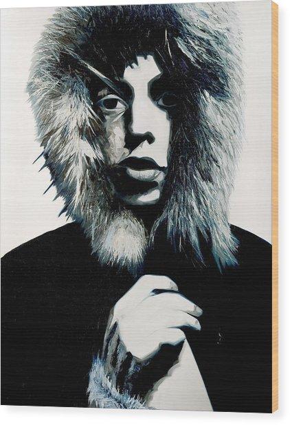 Mick Jagger - Rolling Stones Wood Print
