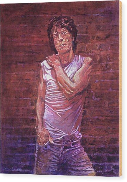 Mick Jagger The Wall Wood Print