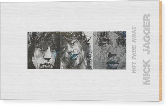 Mick Jagger Triptych Wood Print