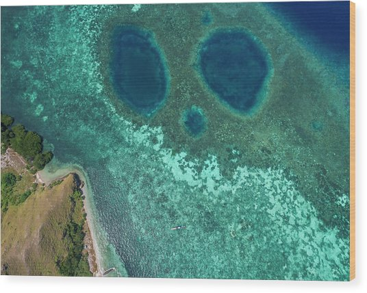 Wood Print featuring the photograph Mickey Mouse Beach Of Flores Island by Pradeep Raja PRINTS