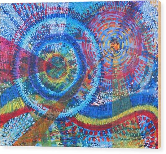 Microcosm V Wood Print by Rollin Kocsis