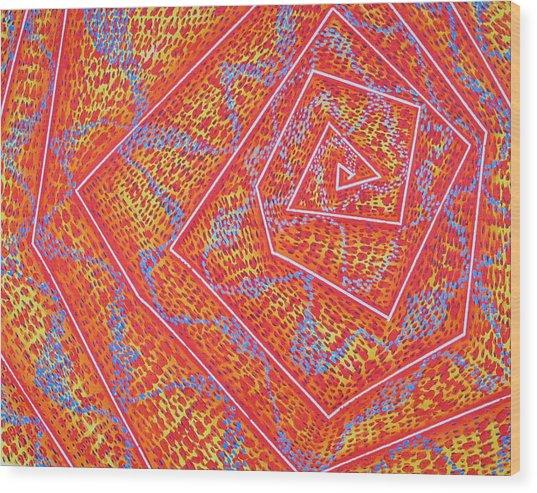 Microcosm Vii Wood Print by Rollin Kocsis