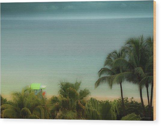 Mid-beach Miami-1 Wood Print