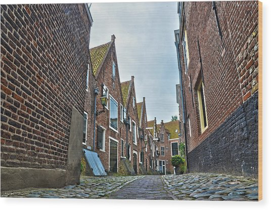 Middelburg Alley Wood Print
