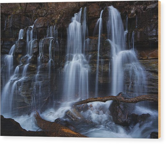 Middle Creek Falls Wood Print