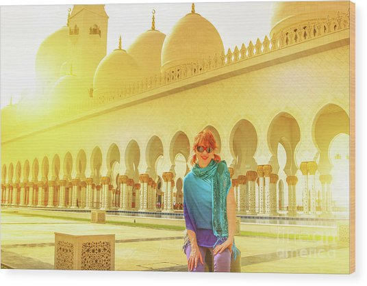 Middle East Tourism Concept Wood Print