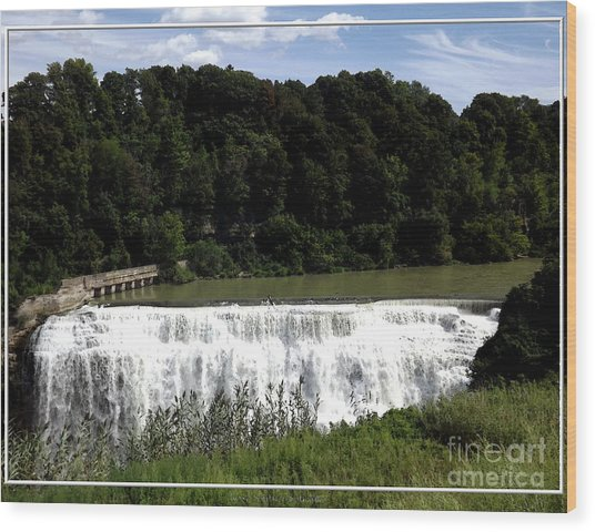 Wood Print featuring the photograph Middle Falls In Rochester New York by Rose Santuci-Sofranko