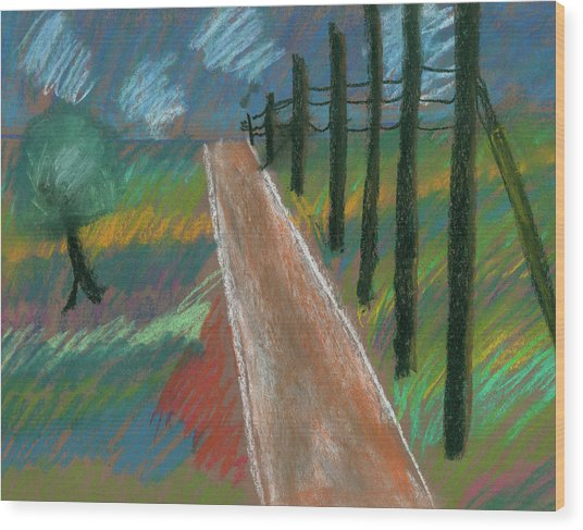Middle Of Nowhere Wood Print