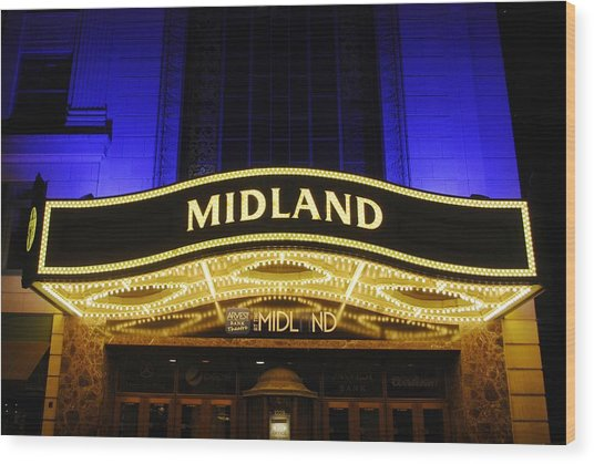Midland Theater Wood Print