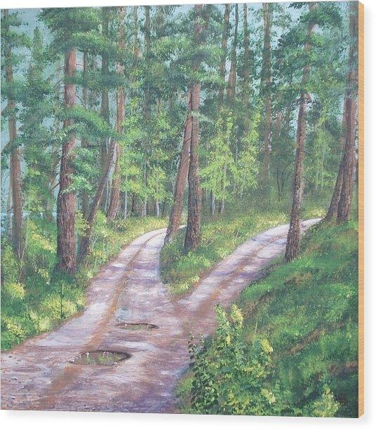 Midlife  The Fork Wood Print by W Wayne Mosbarger