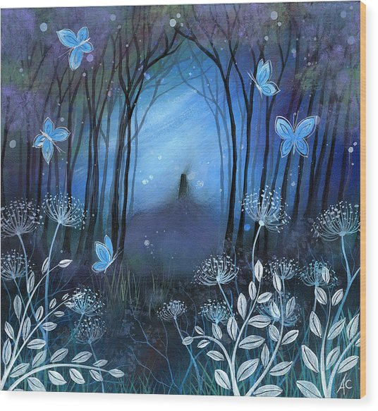Midnight Wood Print by Amanda Clark