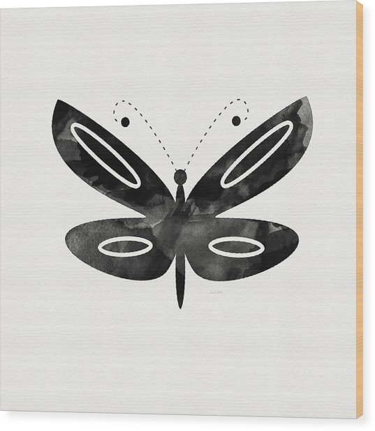 Midnight Butterfly 1- Art By Linda Woods Wood Print