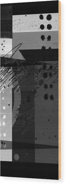 Midnight In The City 2 Triptych Wood Print
